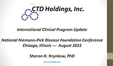 CTD Holdings NNPDF Conference Presentation, Chicago > Aug 2015