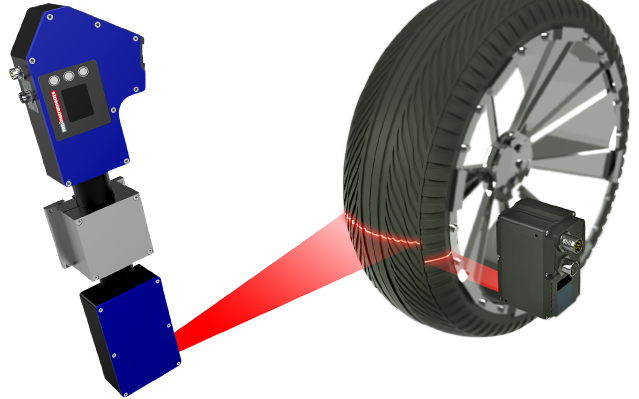 Tire inspection using laser
